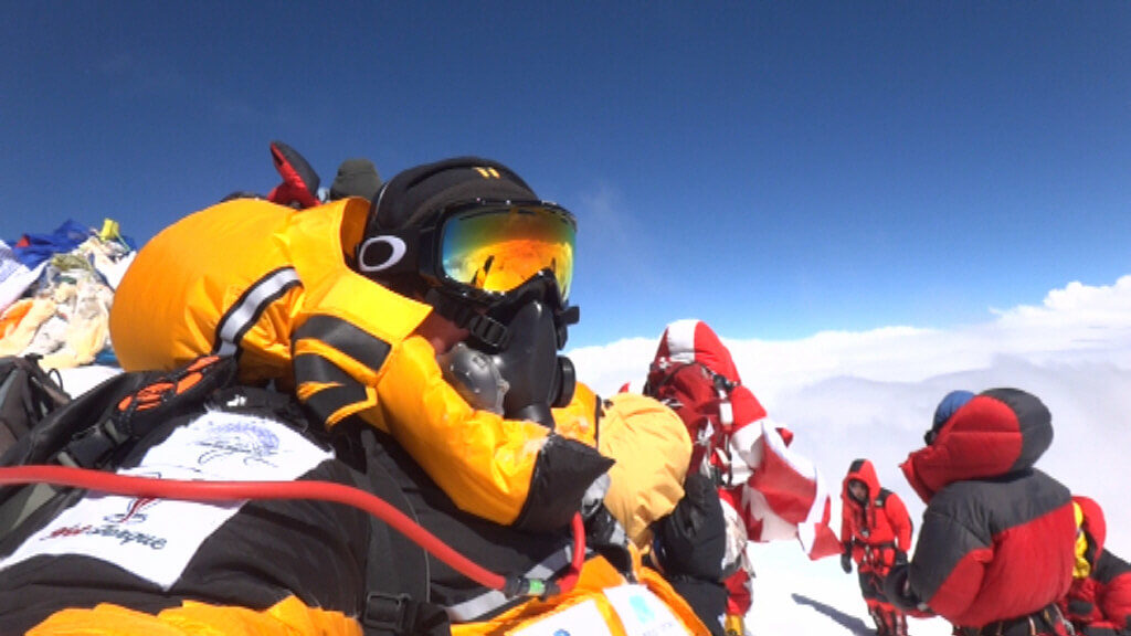 People in Everest Summit